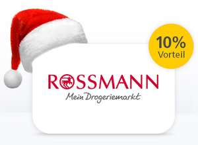 Rossmann oder iTunes Gutscheinkarten mit 10% Rabatt (max. 1100€ für 990€) // Galeria Kaufhof mit 15% (max. 1160€ für 986€) für Postbank Kunden