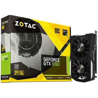 (Mindstar) 2GB ZOTAC GeForce GTX 1050 OC Aktiv PCIe 3.0 x16 (Retail)