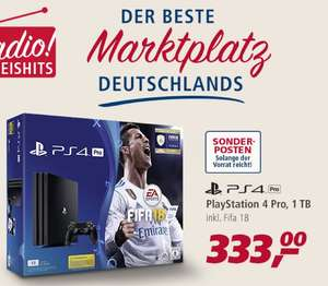 PS4 PRO 1TB + FIFA 18 für 333€ bei real