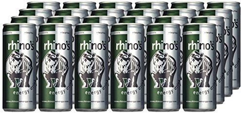 Rhino's Energy Drink Classic, 24er Pack (24 x 250 ml) für nur 9,98€ oder 12x 500ml für 7,99€bei Amazon !