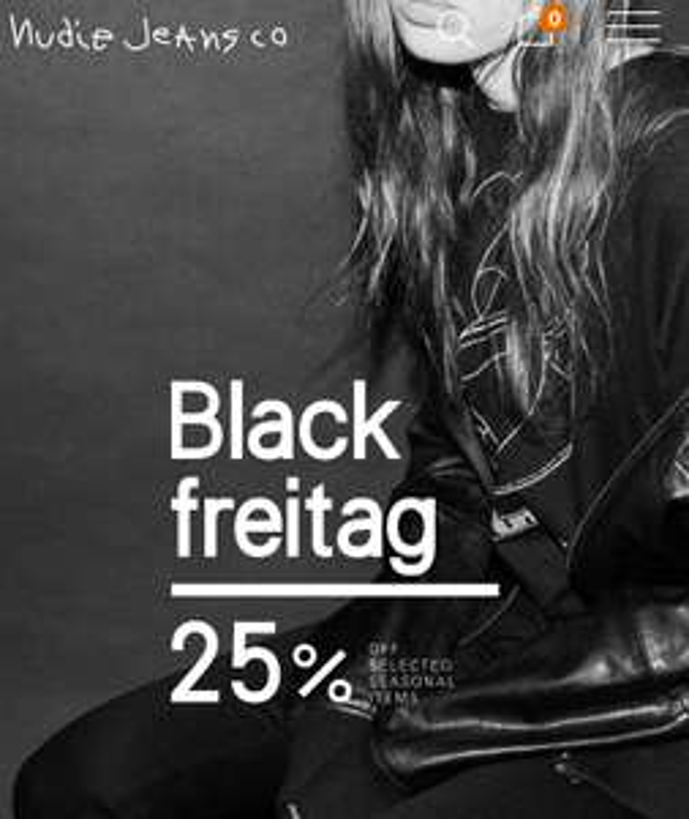 Nudie Jeans 25 % auf ausgewählte Artikel - Black Friday