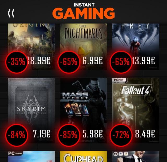 [Black Friday] Fette Rabatte bei Instant Gaming auf verschiedene Games wie z.B. Skyrim
