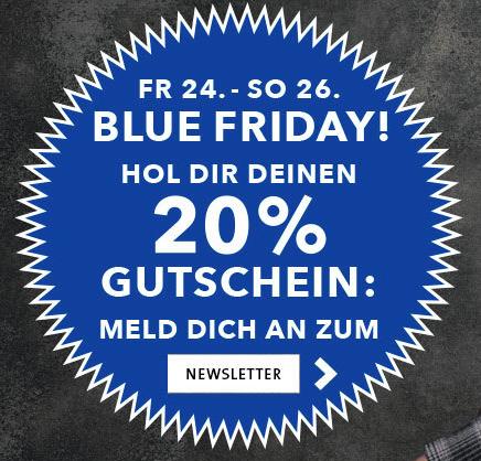 20% auf alles, was blau ist oder mit blau kombinierbar ist [Crämer & Co]