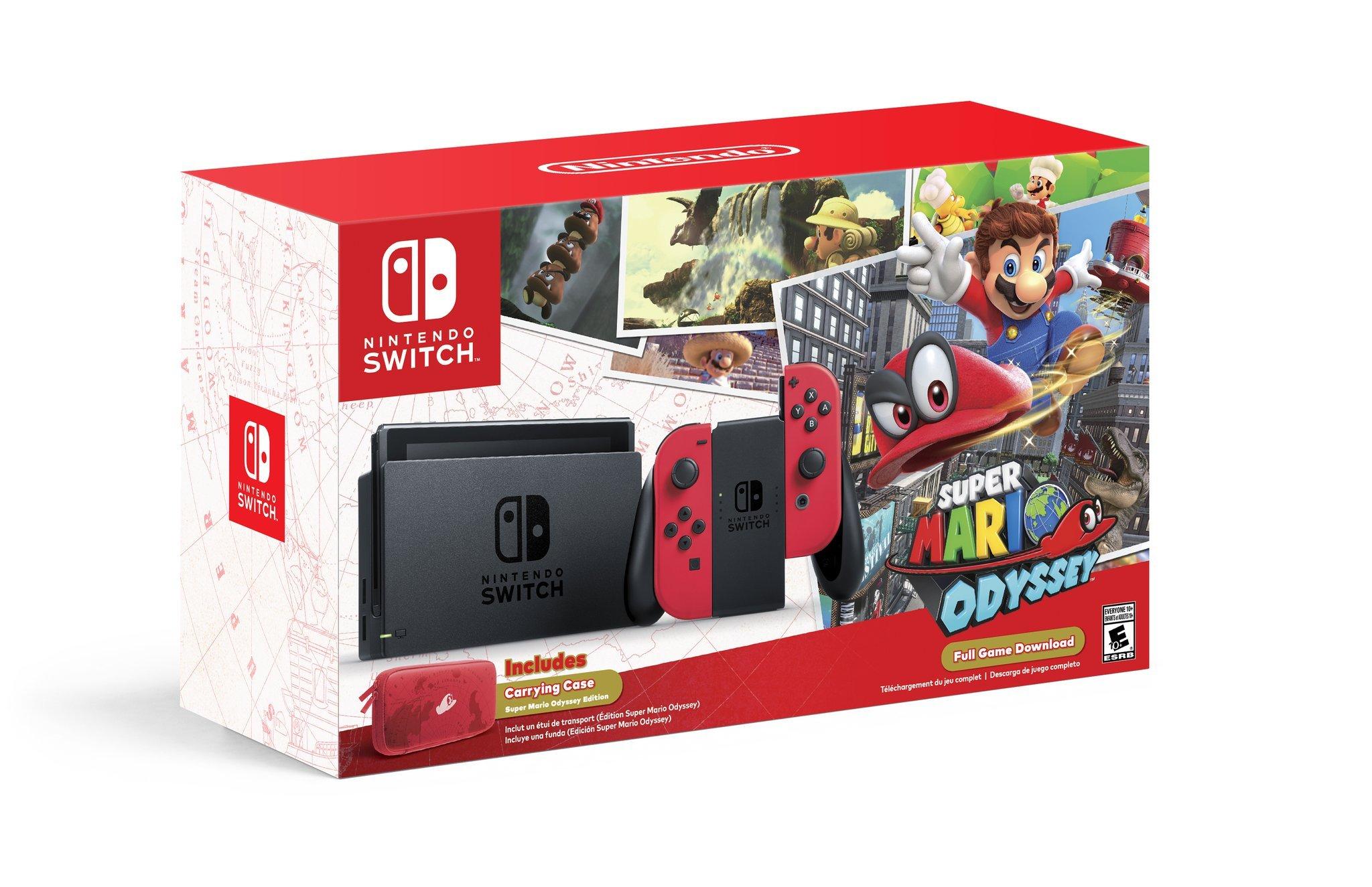 Nintendo Switch (rot) Mario Odyssey Bundle