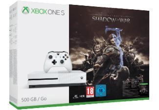 Xbox One S 500GB Mittelerde Bundle + Star Wars Battlefront 2 [Saturn online]