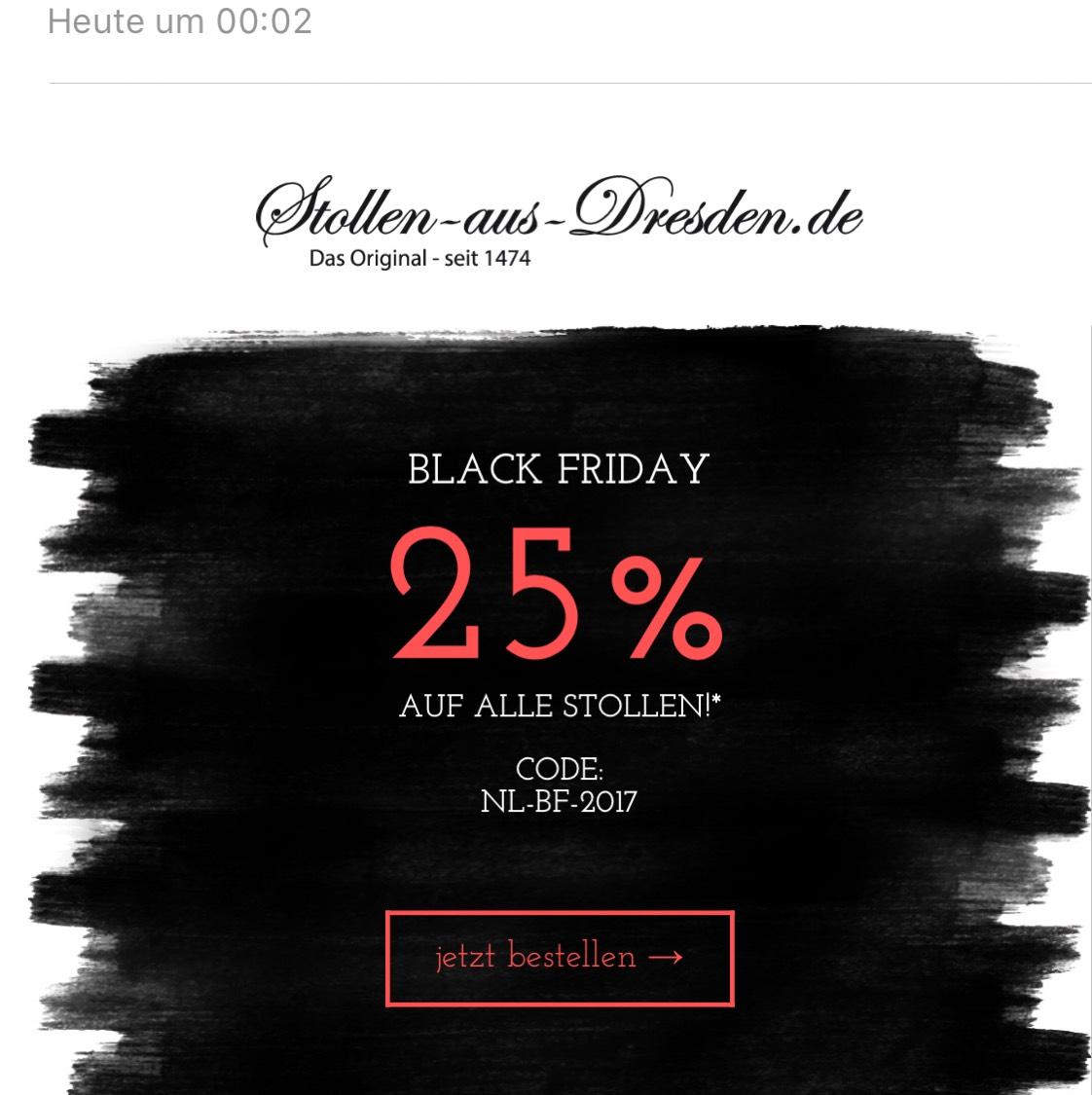 Original Stollen aus Dresden mit 25% Rabatt