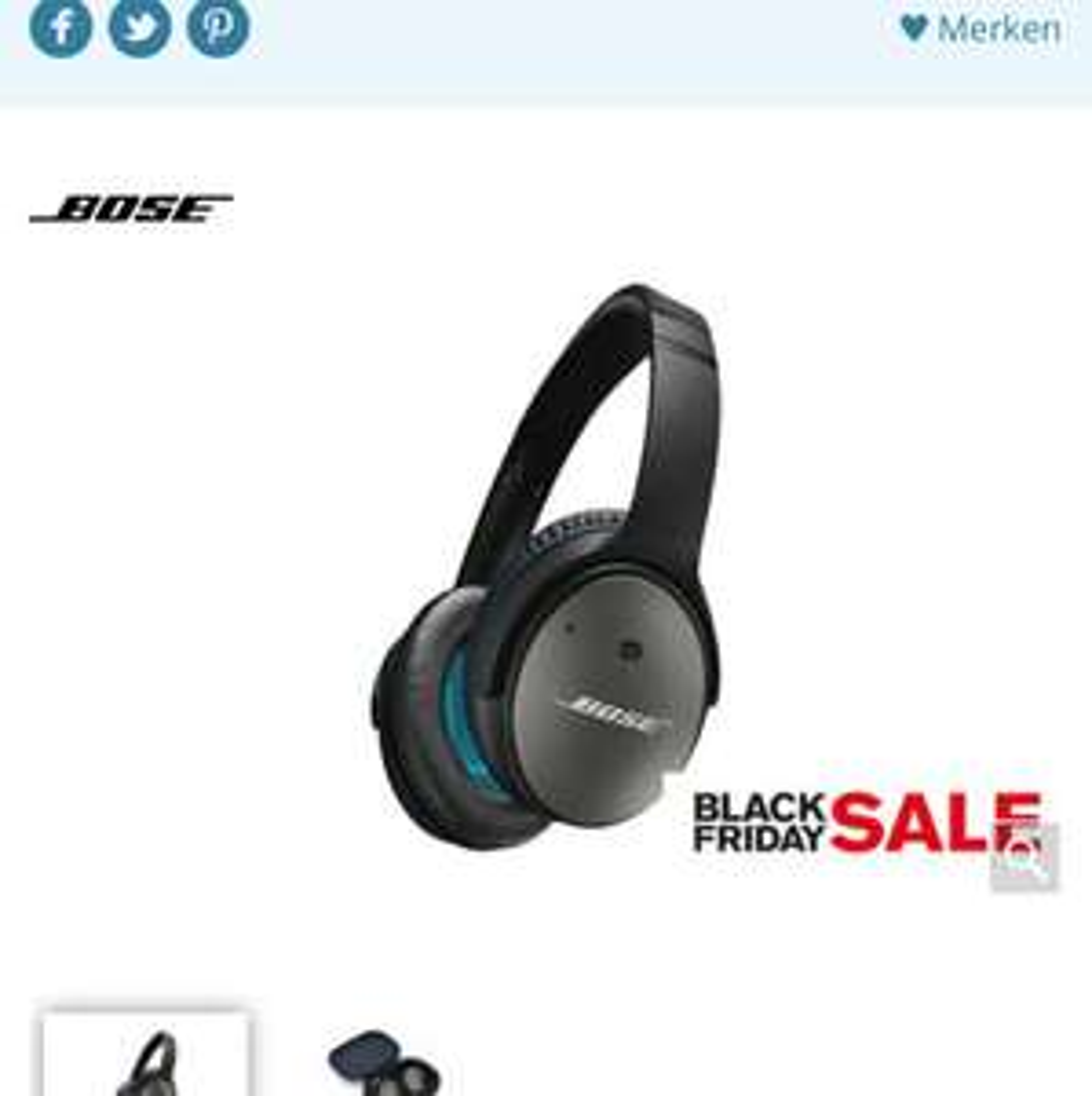 [SCHWEIZ] Bose Quiet Comfort QC25 bei Brack.ch für CHF 149 (ca. 129€)