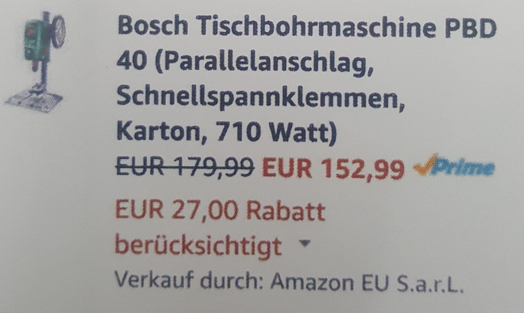 Bosch PBD 40 dank Hornbach Tiefpreisgarantie für 137,69€