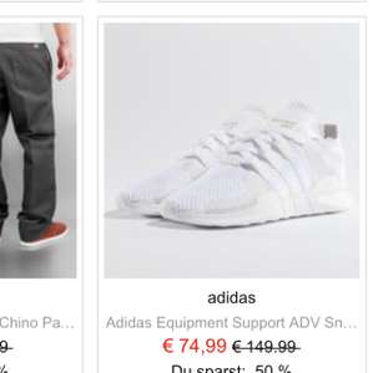 Markenklamotten+Sneaker bis 75% z.B Adidas tubular/Alta Sport/EQT 50% Rabatt
