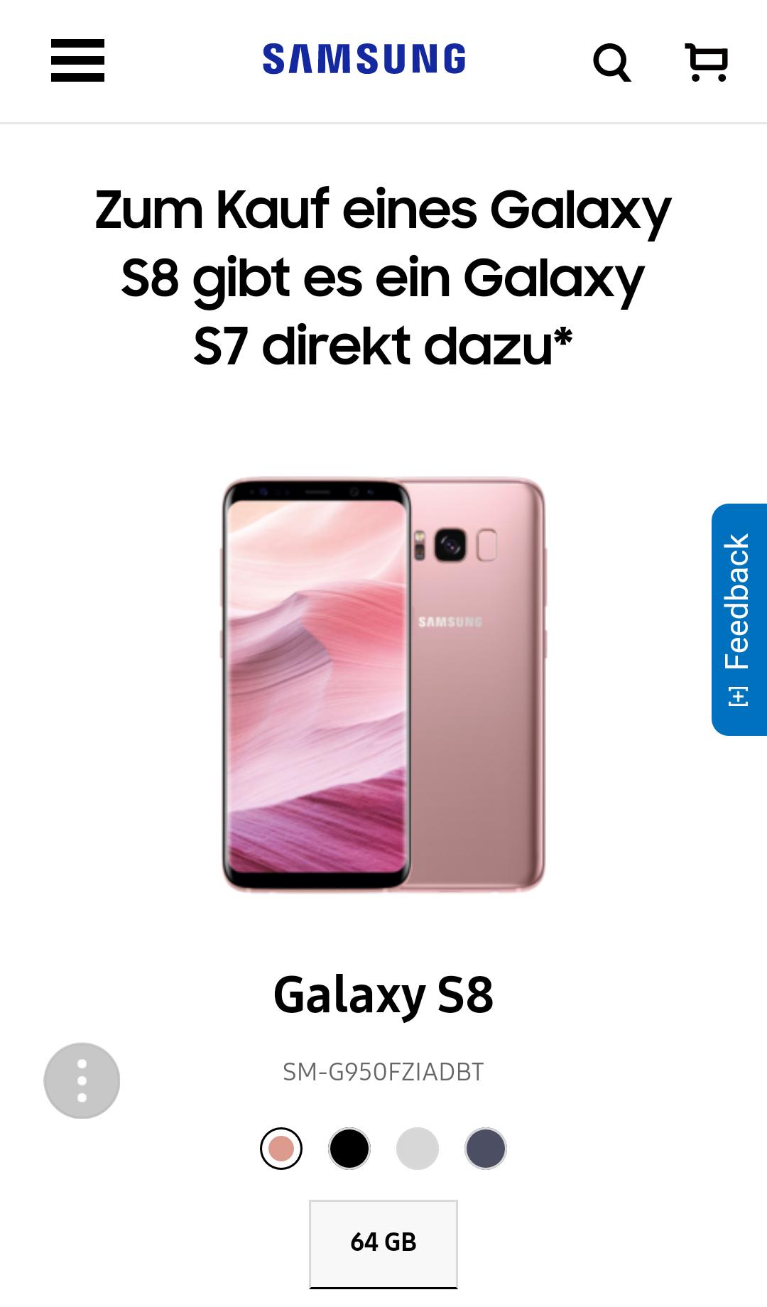 Galaxy S8 kaufen +S7 Gratis dazu #BlackFriday Samsung Online