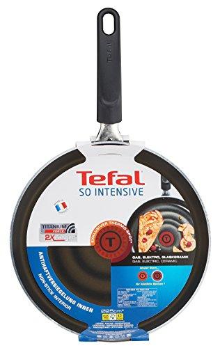 Tefal So Intensive D50310 Crêpepfanne, 25 cm, antihaftversiegelt, schwarz/metallic