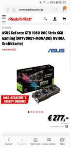 [MEDIA MARKT]Asus Strix gtx 1060 mit Assassins Creed Origins