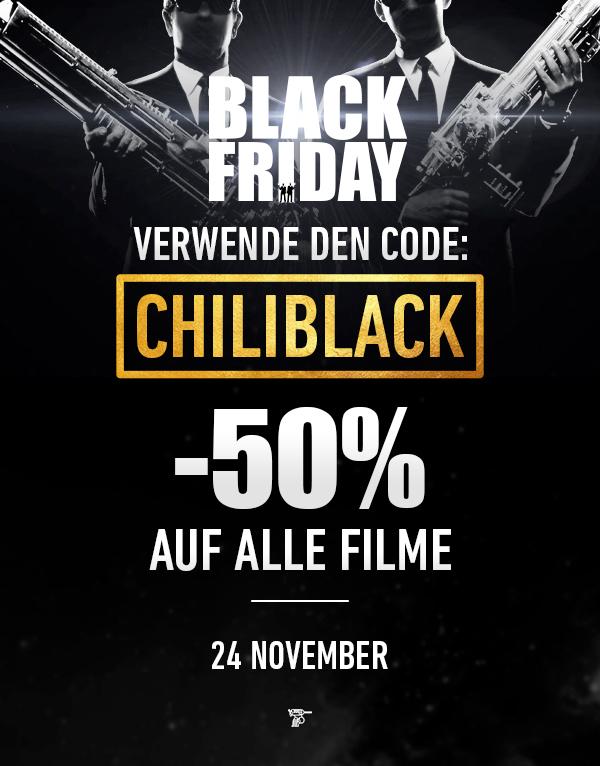 Black Friday: 50% auf alles @ Chili Cinema!