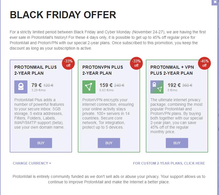ProtonMail Plus - 2 Jahre für 79€