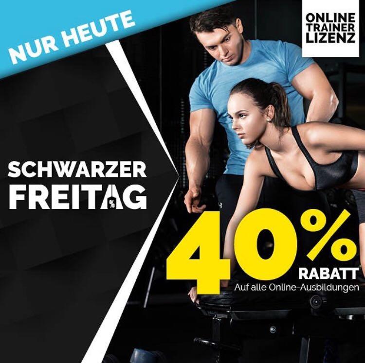 -40% auf die staatlich geprüfte Fitnesstrainer B-Lizenz bei OTL!
