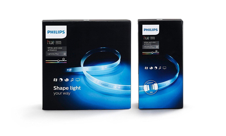 [Amazon.it] Philips Hue Lightstrip Plus 200 cm + Hue Lightstrip Plus Erweiterung  100 cm