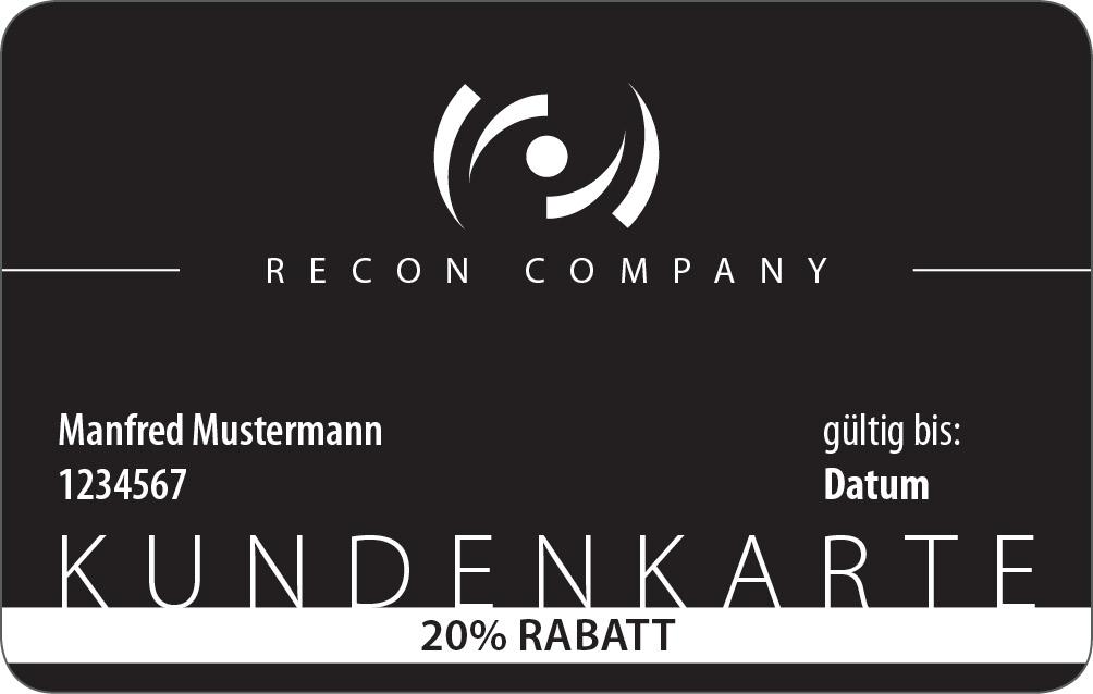 Rabattkarte 10% Recon Company 1 Jahr Gültigkeit