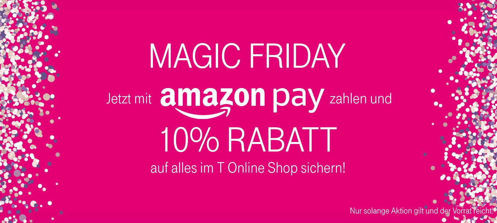 10% Rabatt auf alles im T-Onlineshop bei Zahlung per Amazon Pay, z.B. mit dem Telefunken Full HD Tripple Tuner für 166€ statt 241€