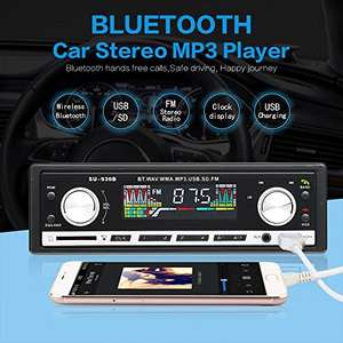 Masione Bluetooth Auto Radio Stereo FM 1Din Auto Audio Receiver In Dash USB / SD / AUX MP3 Player mit LCD Bildschirm + Fernbedienung (Amazon Prime)