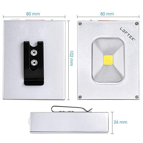 LOFTEK Scheinwerfer LED Handlampe Akku-Flutlichtstrahler 6w 4000mAh wiederaufladbare wasserdicht Flutlicht silber und schwarz - 25% Gutschein