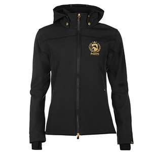 -55 % Requisite Damen Soft Shell Reitjacke Warm Reitsport Jacke Fleece Gefuettert Schwarz