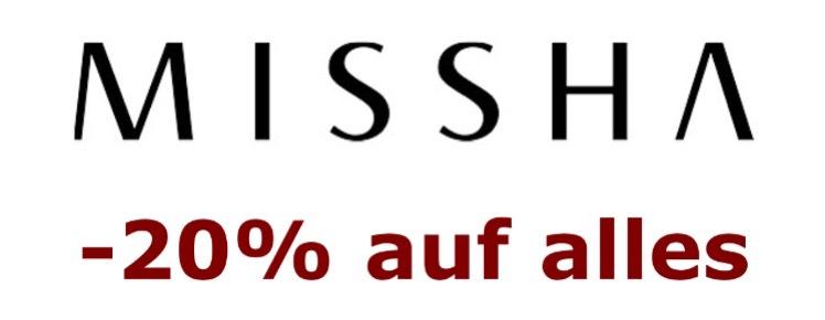 -20% auf alles bei Missha