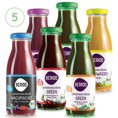 Berioo Bio Cleanse 5-Tages-Saftkur (30 Flaschen à 250ml) - Superfood & Nahrungsergänzung