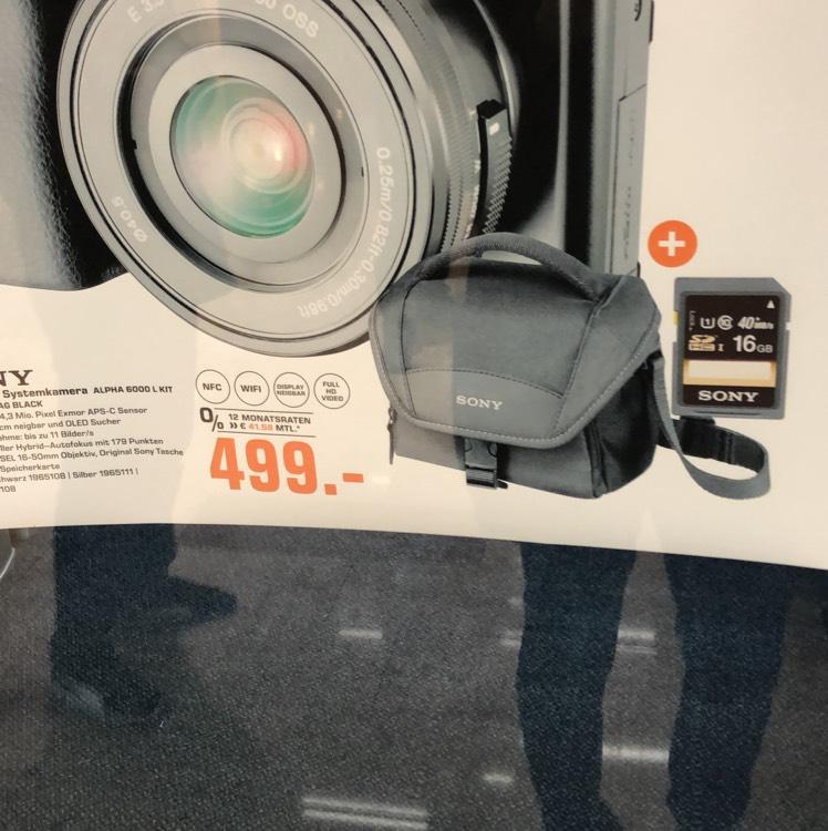 Sony Alpha A6000 Kit mit Tasche