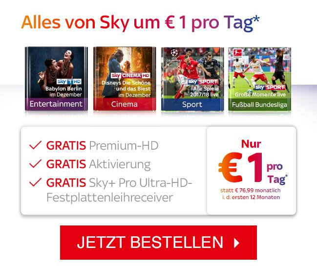 Österreich - Sky komplett für 29,99€