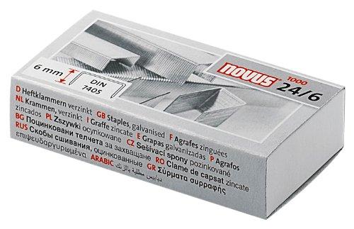 1000 Stück Novus Heftklammern für 0,23€ (Bestpreis) @ Amazon (Plus Produkt)