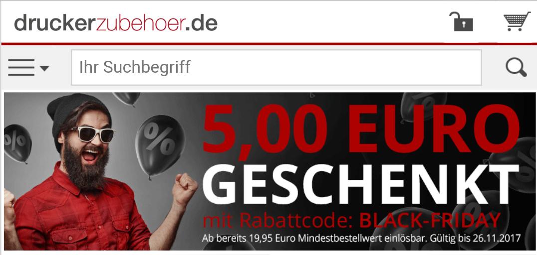 Druckerzubehör.de - Black-Friday Gutschein