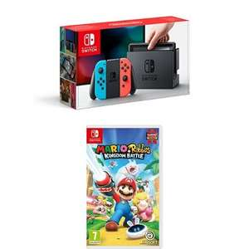 [Amazon.co.uk] Nintendo Switch Neon with Mario Rabbids (328,83€)