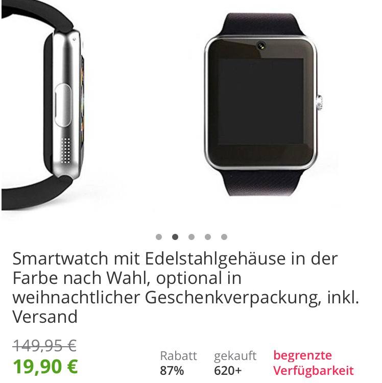 Smart Watch Edelstahl