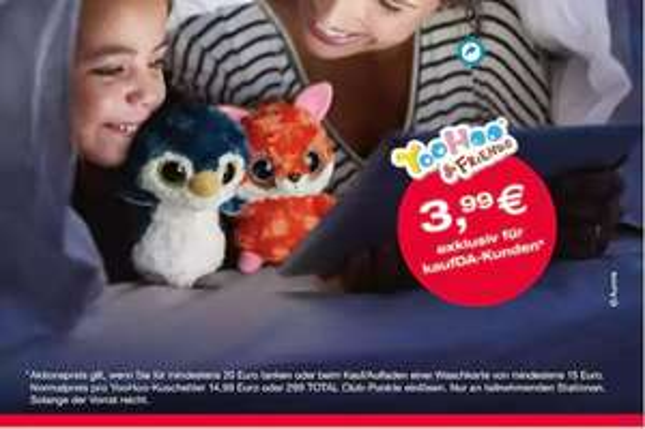 [TOTAL] YooHoo & Friends Kuscheltiere für 3,99 € (min. 20 € tanken)
