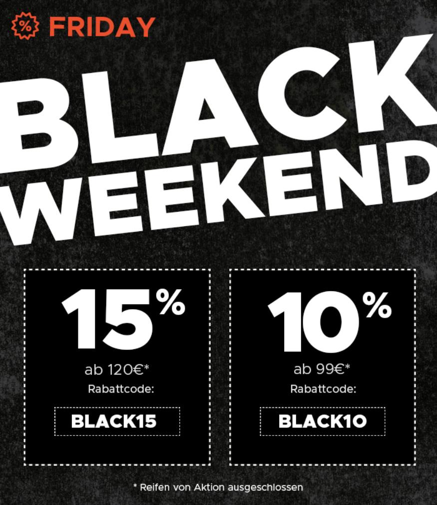 (Mister-Auto)  BLACK WEEKEND: Heute 10% oder 15% Rabatt!