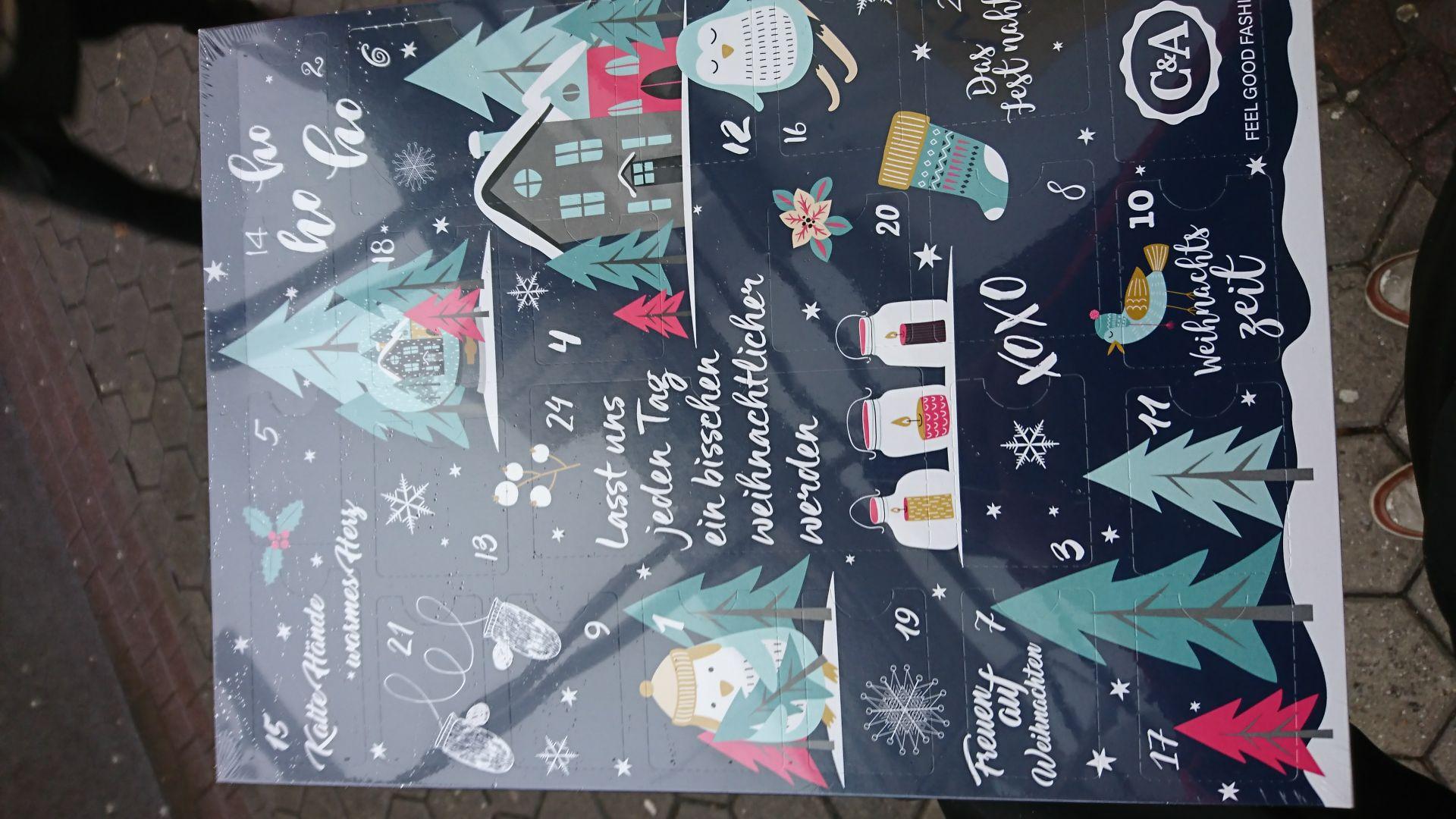 [Lokal C&A Filialen] C&A Adventskalender mit mindestens 10€ in Geschenkkarten