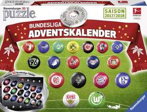 Ravensburger 11695 - Adventskalender Bundesliga 3D Puzzle -  ohne amazon Prime