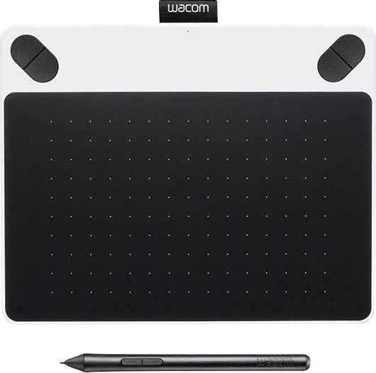 Wacom USB-Grafiktablett Intuos Draw White + Pen S Weiß