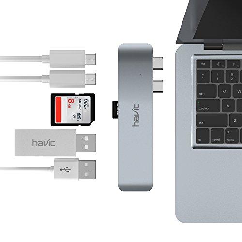 "HAVIT Thunderbolt 3 USB-C-Hub für 2016/2017 Apple MacBook Pro 13"" und 15"" [amazon Black Friday]"