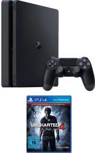 Playstation 4 Slim + Uncharted 4 Plus Edition für 184,99€