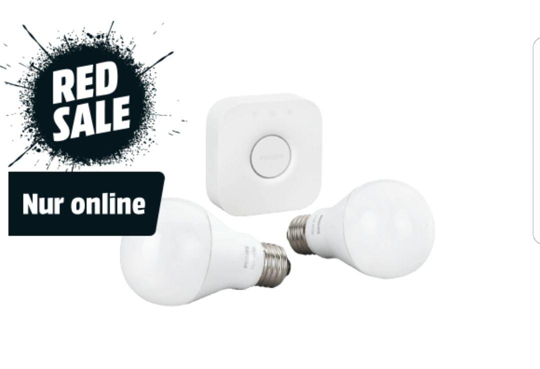 Philips Hue White E27 LED Lampe Starter Set [Media Markt]