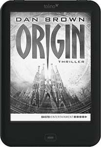 "Tolino shine 2 HD inkl. eBook Bestseller ""Origin"" von Dan Brown"