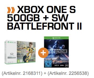 [Saturn] (nur Marktabholung) Xbox One S 500GB inkl. Fifa 17 + SW Battlefront 2 für 169€