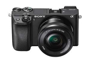 Sony Alpha 6300 E-Mount Systemkamera L-Kit 16-50 mm Objektiv AMAZON (24 Megapixel, 7,5 cm (3 Zoll) Display, XGA OLED Sucher) schwarz