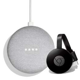 Gratis Google Chromecast beim Kauf eines Google Home Mini