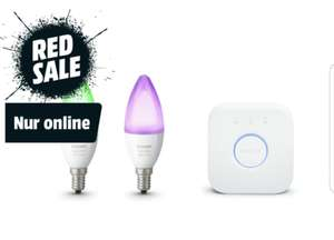 Philips Hue E14 White and Color Ambiance Starter-Set (Bridge und 2 Lampen)