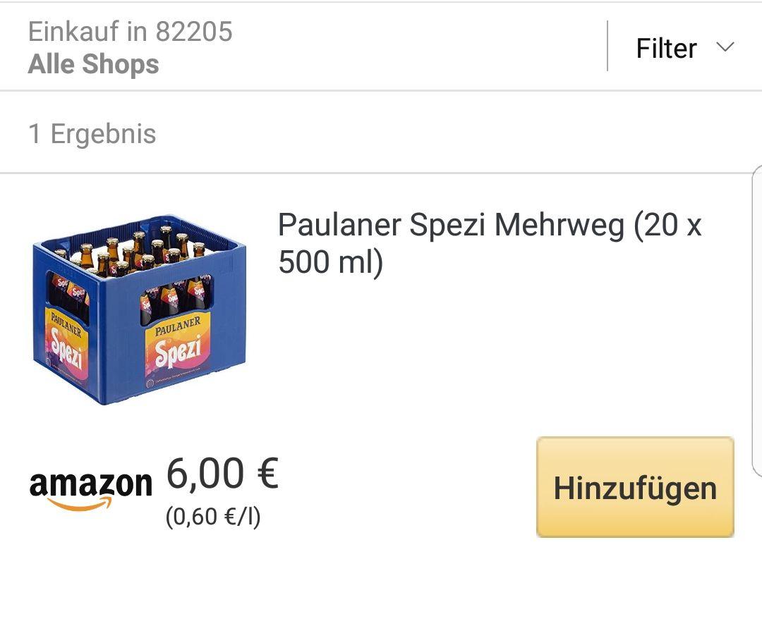 [Lokal München Amazon Prime Now] 1 Kasten Paulaner Spezi für 6€ (+3,99€ Versand unter 40€)