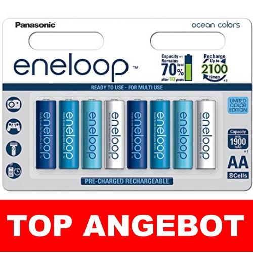 8x Panasonic eneloop Ocean Akkus