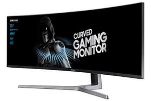 "Samsung LC49HG90DMUXEN 49"" 32:9 Curved HDR 1ms Ultra Wide 144Hz Monitor @ Amazon UK"