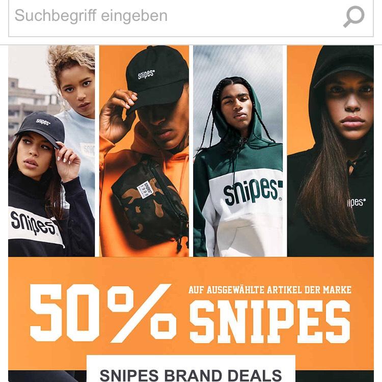 [Snipes] 50% Rabatt auf ausgewählte Produkte